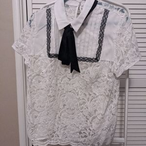 Eloquii Lace Top, Size 14